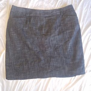 Van Heusen Dk blue heather denim pencil skirt 14